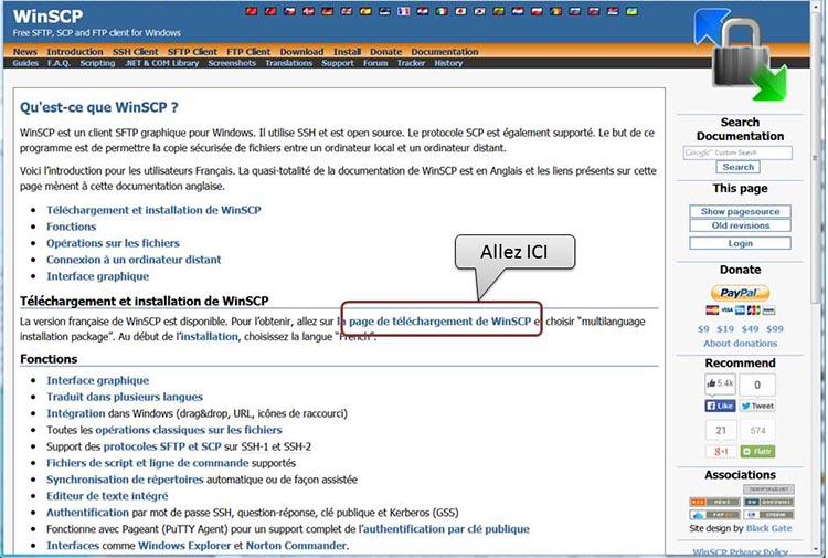 WinSCP-Acueil
